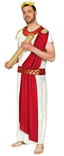 K31250839-54-56-A beige-rot Herren Julius Cäsar Kostüm Römer Gewand Toga Gr.54-56