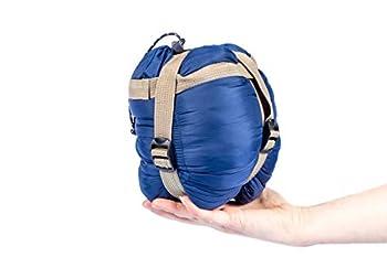 Cao Sac DE Couchage Compact 190 x 75 cm-12 x 7 cm Extérieur : Nylon 320 D imperméabilisé-Doublure : Coton 240T-Garnissage : Fibre de Soie 80g/m2 Bleu Adulte Unisexe, 200x80cm