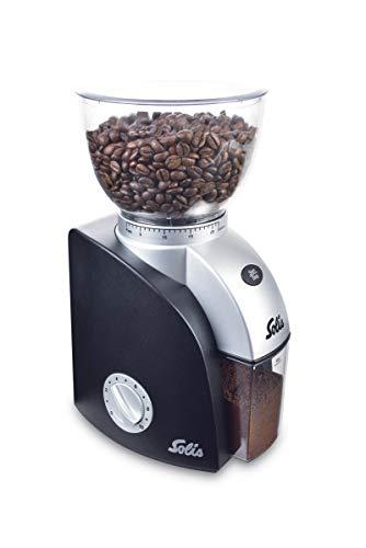 Solis Elektrisches Kaffeemahlwerk, 22 Mahlstufen, 300 g Fassungsvermögen, Scala Plus, Schwarz