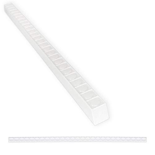 Tile Trim 1/2 x 12 inch Nail Head Pencil Decorative Shower Ceramic Tile Edge Liner Backsplash Wall Molding - Polished Bright White (6 Pack)