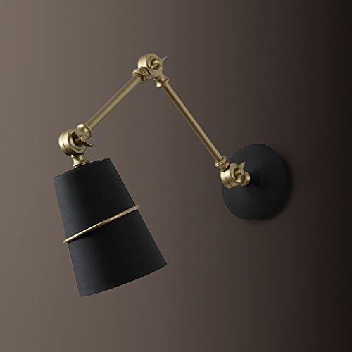 YU-K Het is Versierd in een moderne stijl wandlamp Bed Metal Over The Bed, Perfect voor een Restaurant Cafe Club Versierde Woonkamer Slaapkamer Wandlampen, Goud en Zwart, Geel