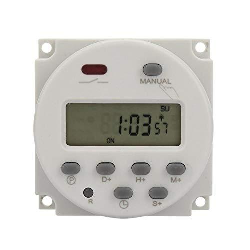 Interruptor de relé de tiempo Interruptor programable ampliamente utilizado Duradero en uso Alta precisión Cómodo de usar Luces de neón para farolas Equipo de(12VDC)