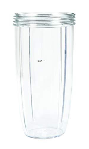 Nutribullet NBM-VE022RV - Vaso alto plástico libre BPA, Tritan, capacidad 0.9 litros, apto para lavavajillas, resistente a golpes y caídas, transparente