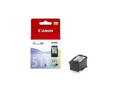 Canon CL-511 - Cartucho de Tinta para impresoras (Cian, Magenta, Amarillo, Pixma IP/MP/MX/Pro, Ampolla, Inyección de Tinta)
