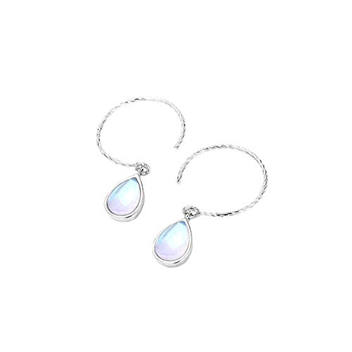 XCWXM 925 Sterling Silver Water Drop Colorful Crystal Dangle Earrings For Women Charm Fashion Jewelry Valentine's Day