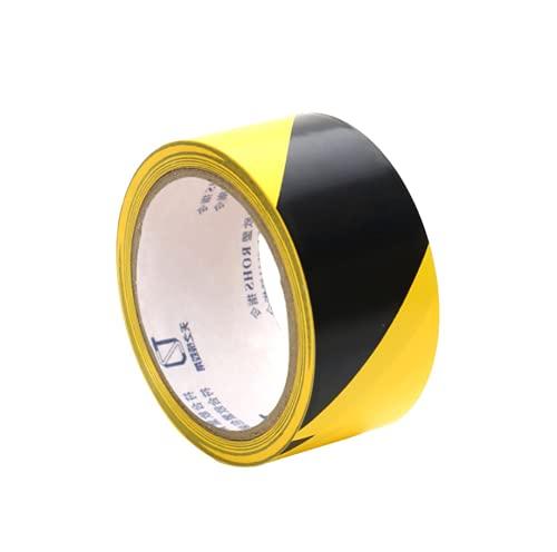 Cinta adhesiva de seguridad de 1,5 cm x 33 m, cinta adhesiva de advertencia de peligro