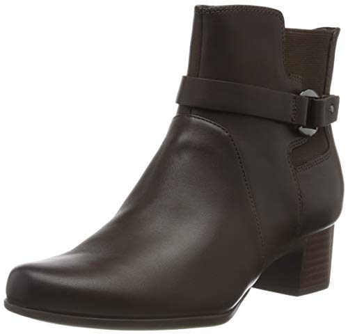 Clarks Un Damson Mid, Botines Mujer, Marrón (Brown Leather Brown Leather), 36 EU