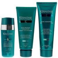 Kerastase Resistance Bain Therapiste Shampoo 250ml, Serum Therapiste 30ml and Soin Premier Therapiste 200ml