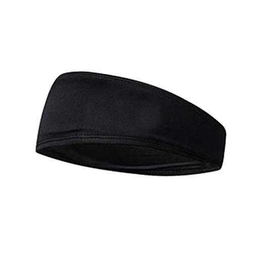 Unisex polyester elastische yoga hoofdband effen kleur Ademend absorbeert zweet Sport hoofddoek zweetband