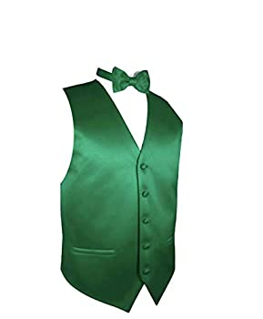 Exclusive Distributor Men s Solid Vest & Bow Emerald Green Size L  Chest 44