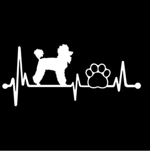 GenericBrands 3 Piezas Etiqueta engomada del Coche 14,9 CM * 6,6 CM Heartbeat Lifeline Dog Vinilo Coche Pegatina Blanco