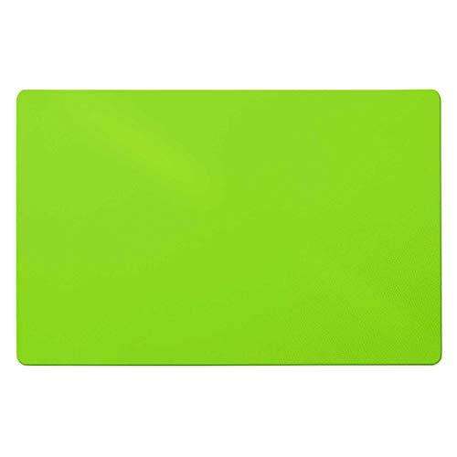 Trendige Bodenschutzmatte für Hartböden | PVC- und phthalatfrei | Hellgrün | Größe wählbar (120 x 75 cm)