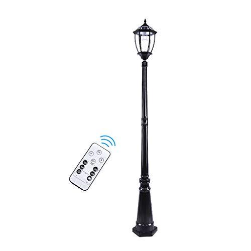 Outdoor Solar Lamp Street, for Patio, Post Light, Garden, Warm Light/White Light, Remote Control (Black/Bronze)