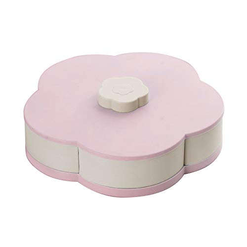 PANYUE Rotating Flower Type Candy Box, Nut Snack Candy...