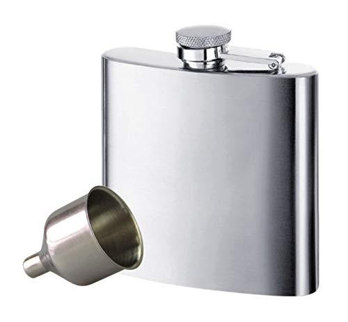 voocye スキットル ヒップ フラスコ 6oz ステンレス製 錆びない ウイスキー 清酒 ボトル 携帯用 超軽便利