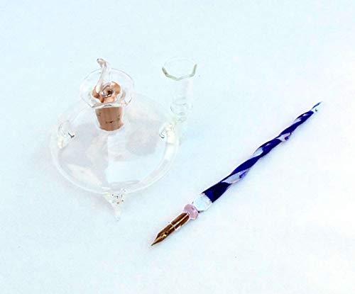 Glazen kufner glazen potje met glasveer