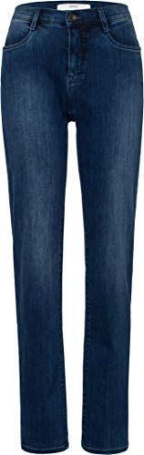 BRAX Damen Style Carola Hose Casual Klassisch Jeans, Used Regular Blue, One Size (Herstellergröße: 44K)
