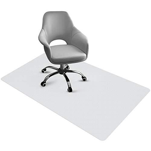 Bodenschutzmatte Bürostuhl Unterlage PVC Schreibtischunterlage Transparent Büro Computer Schützen rutschfest Haltbar 90 cm x 120 cm Perfekt für Hartboden Büro Zuhause Hartboden-Teppichschutz