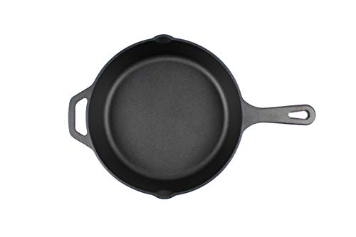 Highkind cast iron skillet frying pan 8/10.25 inch pre seasoned,...