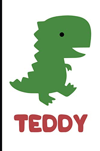 Teddy: A lovely A5-lined hard-backed notebook with roarsome dinosaur, Lined Notebook/Journal Gift 110 pages 6x9, soft Cover, Matte Finish