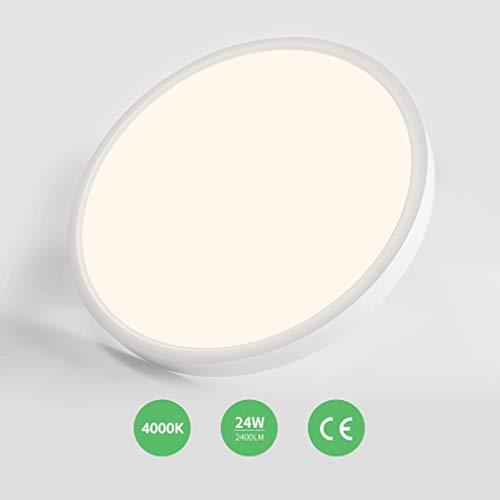 Anten LED Deckenleuchte Deckenlampe, Innenleuchte Balkonlicht,Neutralweiß 40000K,für Bad Schlafzimmer Küche Balkon Korridor Büro Esszimmer Wohnzimmer