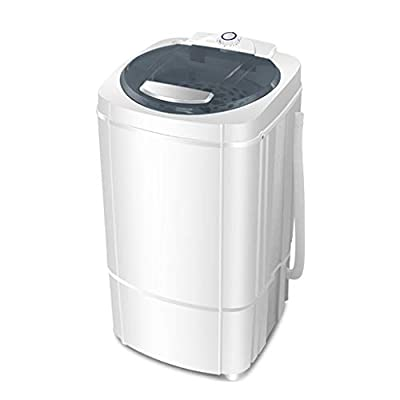 YXCKG Portable Spin Dryer, Laundry Spin Dryer, Spin Dryer for Clothes, Centrifugal Spin Clothes Dryer Drain, Stainless Steel Drum, 1-5Min Spin Cycle, Capacity 9.8kg