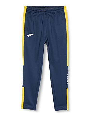 Joma 100761.309 Pantalons Fille, Bleu Marine/Jaune, 5XS