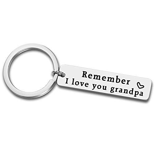XGAKWD llavero para el Día del Padre, regalo para abuelo, recuerdo te quiero abuelo, regalo de cumpleaños o Navidad para abuelo