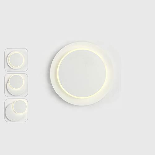 XUEBAOBAO Personnalité Moderne créatif Salon Salle à Manger Chambre à Coucher Lampe de Chevet Concepteur tournant Lune Mur Lampe carré Rond LED Support Acrylique lumière