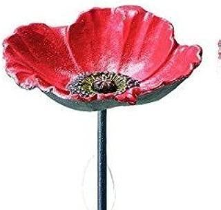 Benba brand Cast Iron poppy bird bath for Garden decorative feeders