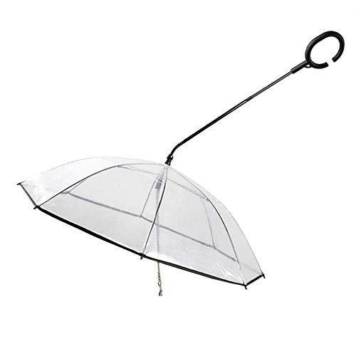 WXCCK Paraguas De Mascotas Transparente Ajustable con Correa para Caminar Correa para La Lluvia para Mascotas Perro Impermeable Decoración para El Hogar, para Perros Pequeños Y Medianos Gatos