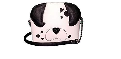 Betsy Johnson Puppy Dog Crossbody Black/White