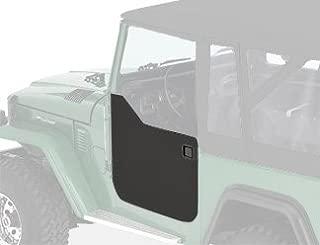 Bestop 53030-01 Black Crush Fabric Lower Half Door Set for 1964-1984 Toyota Landcruiser, FJ40