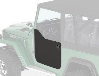 Bestop 5303001 Black Crush Lower Fabric Half Doors for 1964-1984 Toyota Land Cruiser