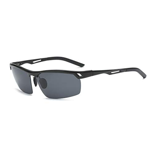 ZXTYJ Gafas de Sol polarizadas rectangulares for Hombres 100% de protección UV (Color : A)