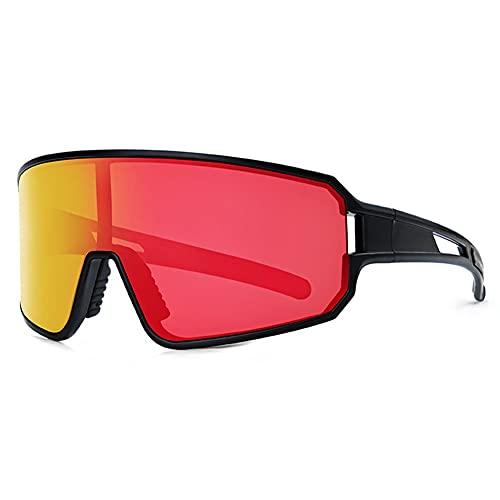 MYJOYSUE Espejos de Ciclismo para Hombres y Mujeres, Gafas de Sol, Uso al Aire Libre Colorido para Bicicletas, Bicicletas de montaña, Correr, Esquiar, Deportes de Golf, Gafas de Sol polarizadas