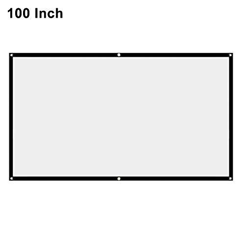 BHAIR5 Projektionsleinwand, tragbar, 16:9, faltenfrei, weiß, HD elektrische Projektionsleinwand, Schule, Theater, Kino, Heimprojektor
