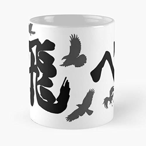 Desconocido Shoyo High The Kageyama Tobio To Hinata Yu Haikyuu Karasuno Banner Top Fly Nishinoya Taza de café con Leche 11 oz