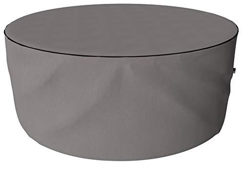 SORARA Housse de Protection Hydrofuge pour Table Ronde | Gris | Ø 239 x 90 cm