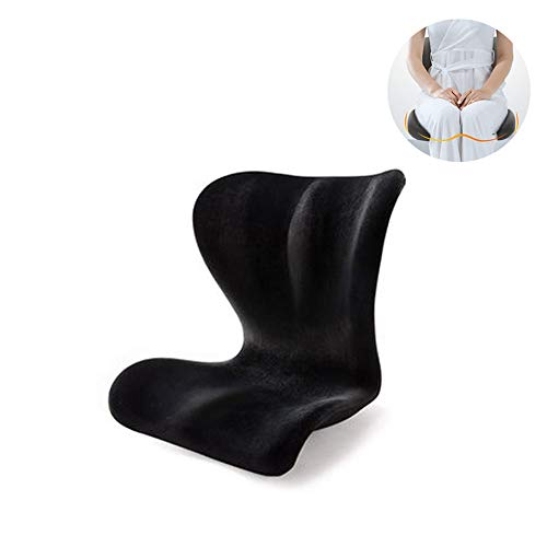 Zitkussens Orthopedische En lordose set voor auto, kantoor, rolstoel, memory foam stoel kussens ischias pijnverlichting, betere houding