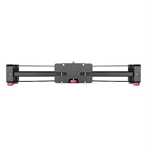 Cameraschuif/Draagbare 48cm / 102cm (geïnstalleerd op statief) Slide Rail Track, for DSLR/SLR camera/video camera's (Zwart) (Color : Black)