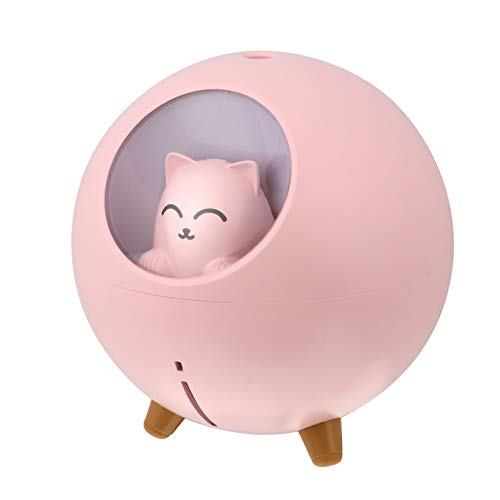 HEALLILY Humidificador de aire USB con aroma de gato, difusor de aceite esencial, mini niebla humidificador de niebla para decoración de mesa para oficina en casa