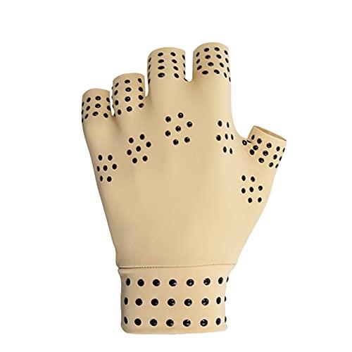 SianoS para Hombres y Mujeres 1 Pares Terapia magnética Guantes sin Dedos Anti Artritis Alivio de Dolor de Alivio de compresión Guantes curan Las articulaciones Soporte Deportivo de muñeca