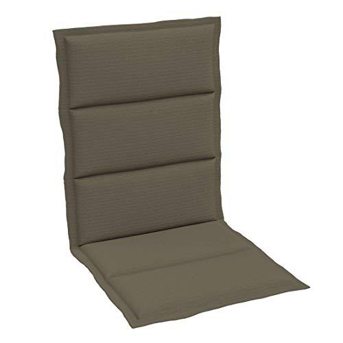 OUTLIV. Polsterauflage Dessin 405 Stapelsessel-Auflage 108x46x3 cm Sitz- Rückenkissen Grau Meliert Sitzauflage für Gartensessel und Gartenstuhl