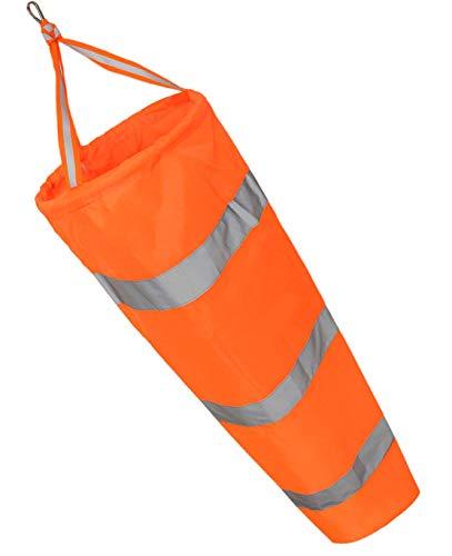 ILLUVA Windsack mit reflektierendem Gürtel - 78 cm wetterfeste Nylonsocke für Windmessungen im Freien,Windsock