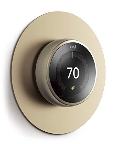 elago Wall Plate Cover Plattenabdeckung Kompatibel mit Google Nest Thermostat 1. 2. 3. und E Generation-[Exakte Farbabstimmung] [Fingerabdruckbeständige Beschichtung] [Langlebiges Aluminium]-Messing
