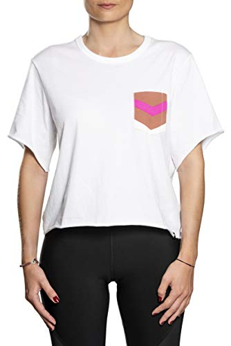 Hurley W Maritime Crop Pocket Crew Tee-Shirts Femme White FR: XS (Taille Fabricant: XS)