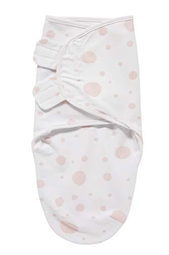 Meyco 301050 SwaddleMeyco - Fascia per neonato, S/M (0-3 mesi) DOTS, colore: Rosa chiaro
