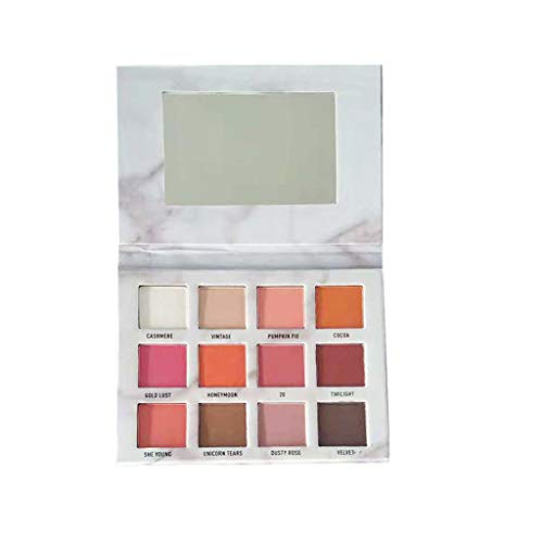 wyxhkj Ombre à paupières Palette d'ombres à paupières de luxe de la mode 12 couleurs doré mat (A)