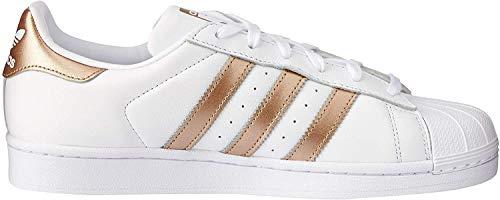 adidas Damen Superstar Fitnessschuhe, Weiß (Ftwbla/Ciberm 000), 38 EU